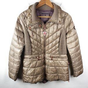 Bernardo | Gold Primaloft Full Zip Puffer Jacket L